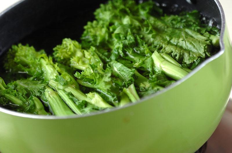 菜の花のグラタンの作り方の手順1