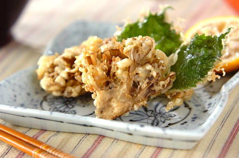 マイタケの天ぷらの作り方の手順
