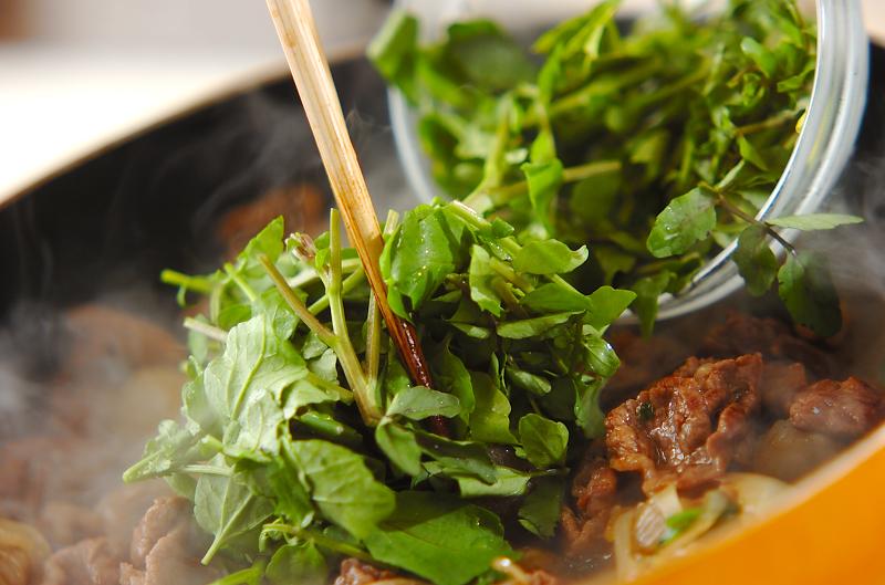 牛肉と板コンの炒め煮の作り方の手順4
