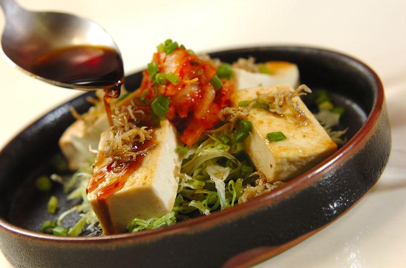 豆腐ステーキキムチのせの作り方の手順8