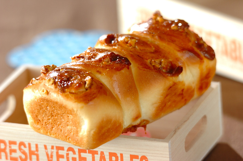 クルミとキャラメルのおやつパンの作り方の手順