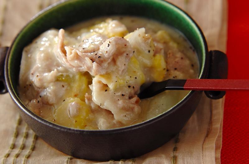 餅の豚肉白菜クリーミー煮【E・レシピ】料理のプロが作る簡単レシピ/2012.01.23公開のレシピです。
