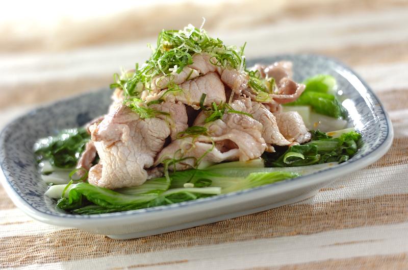 しろ菜と豚肉の夏おかずの作り方の手順
