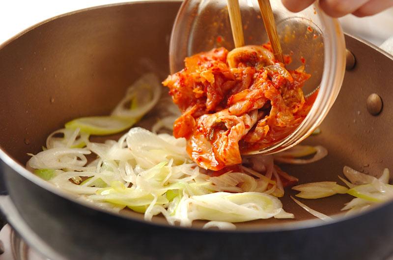 モヤシのキムチ炒め和えの作り方の手順3