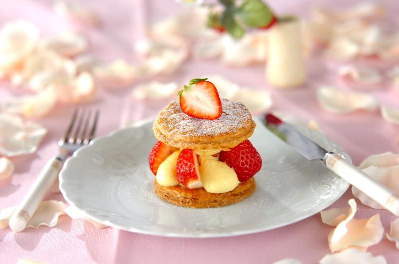 イチゴのミルフィーユ