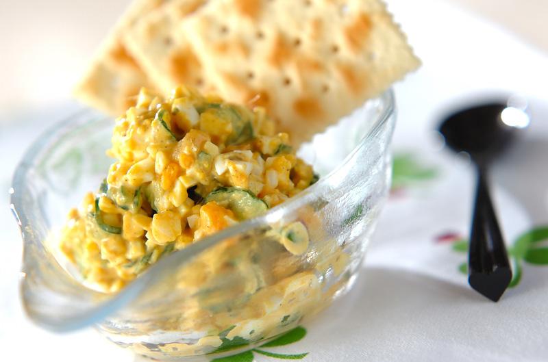 七色の味☆カレー卵ディップの作り方の手順