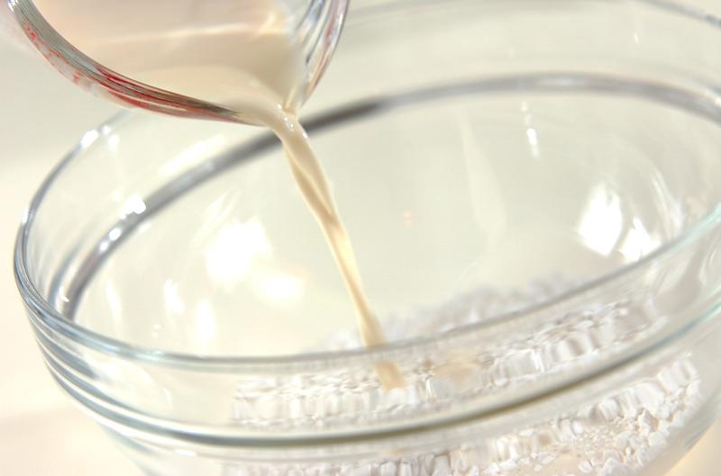 豆乳白玉黒みつソースの作り方の手順1
