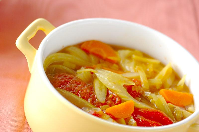 野菜のカレースープ煮の作り方の手順