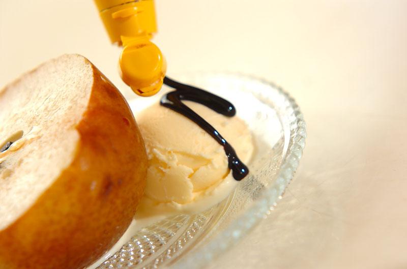 焼きラ・フランスのアイス添えの作り方の手順4