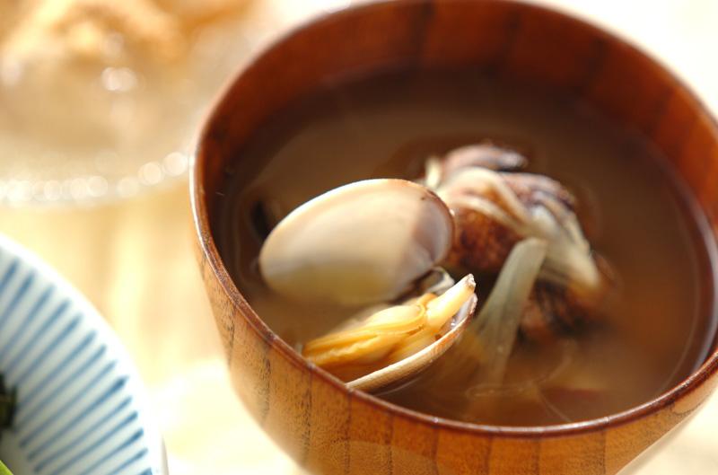 アサリとミョウガのみそ汁の作り方の手順