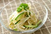モヤシとミツバのサラダの作り方の手順