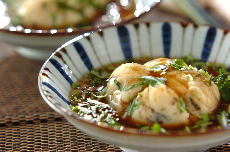 豆腐の茶巾蒸し