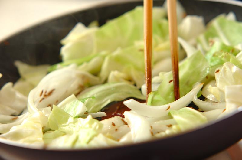 キャベツのササッと炒めの作り方の手順3