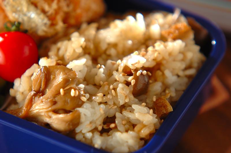 炒めキノコ混ぜご飯