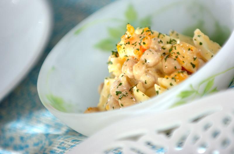 卵のサラダの作り方の手順