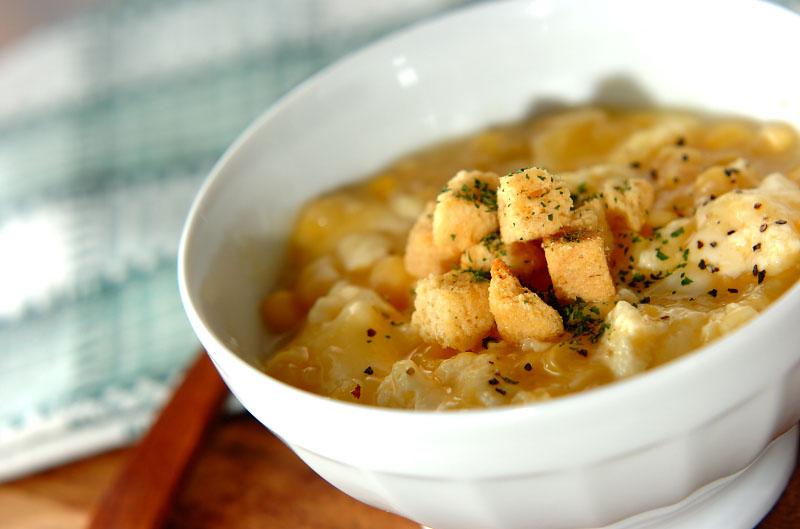 レンジでふんわりコーンスープ