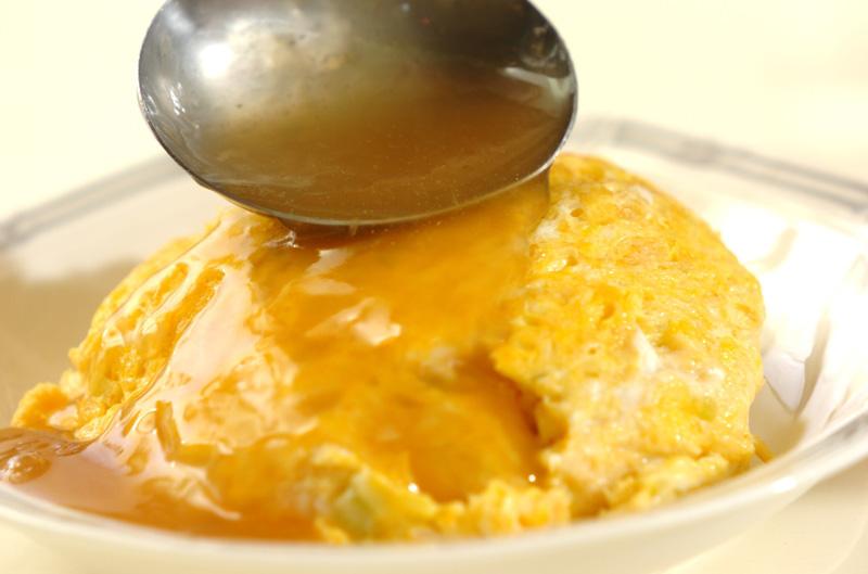 カニ缶の卵丼の作り方の手順7