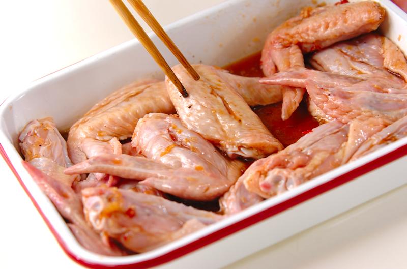 鶏手羽先の唐揚げの作り方の手順1