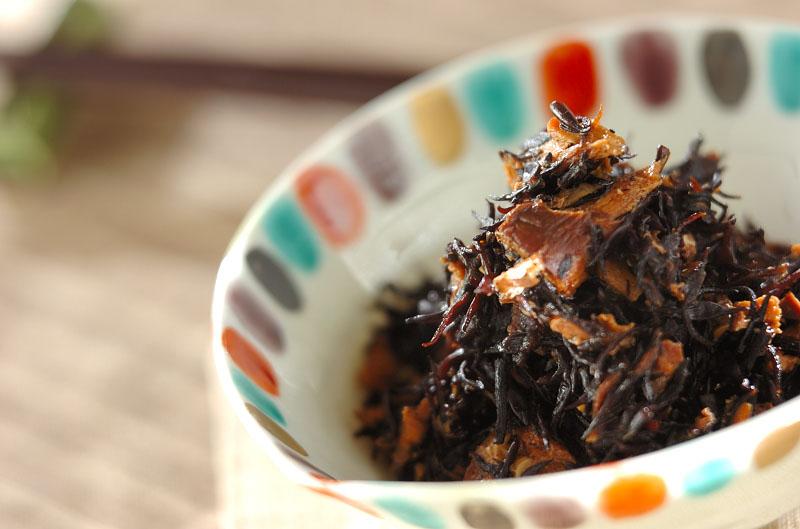 ヒジキのサバ缶煮