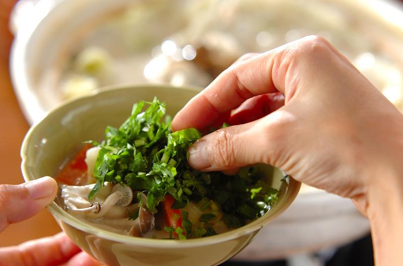 キャベツと白菜の野菜酒粕鍋の作り方の手順7