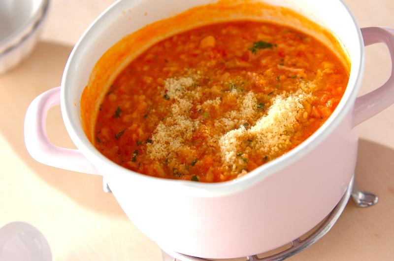 トマト豆乳雑穀がゆ