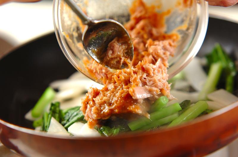 カブのツナみそ炒めの作り方の手順5