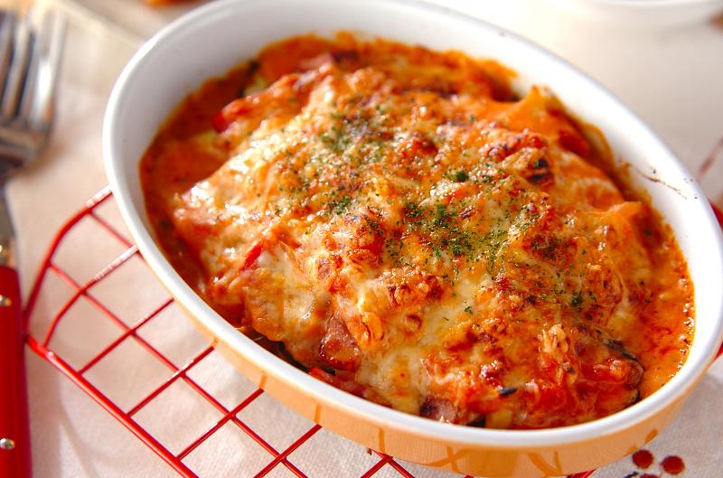 ナスのクリームトマトグラタン【E・レシピ】料理のプロが作る簡単レシピ/2011.06.06公開のレシピです。