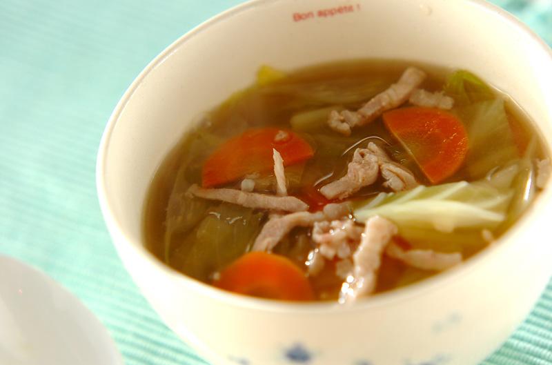キャベツの塩麹スープの作り方の手順