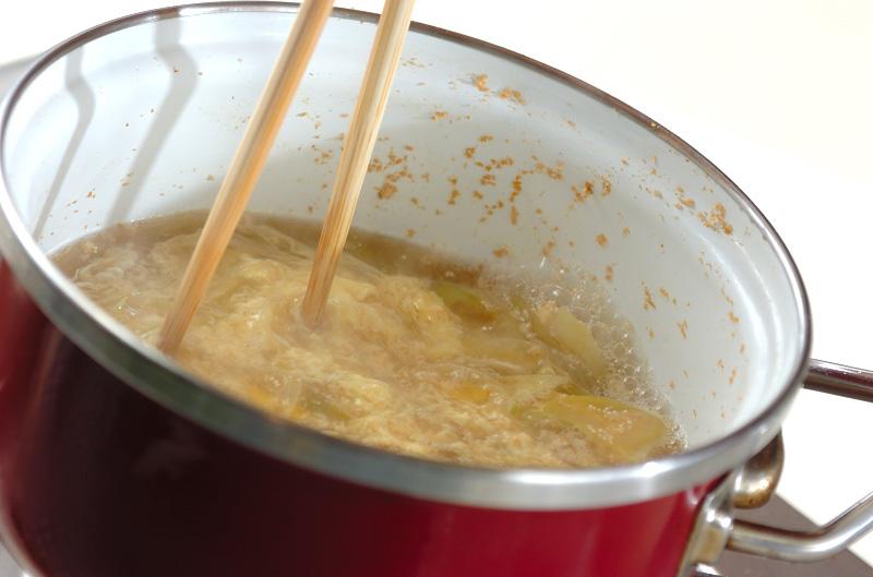 めんたいかきたま汁の作り方の手順4