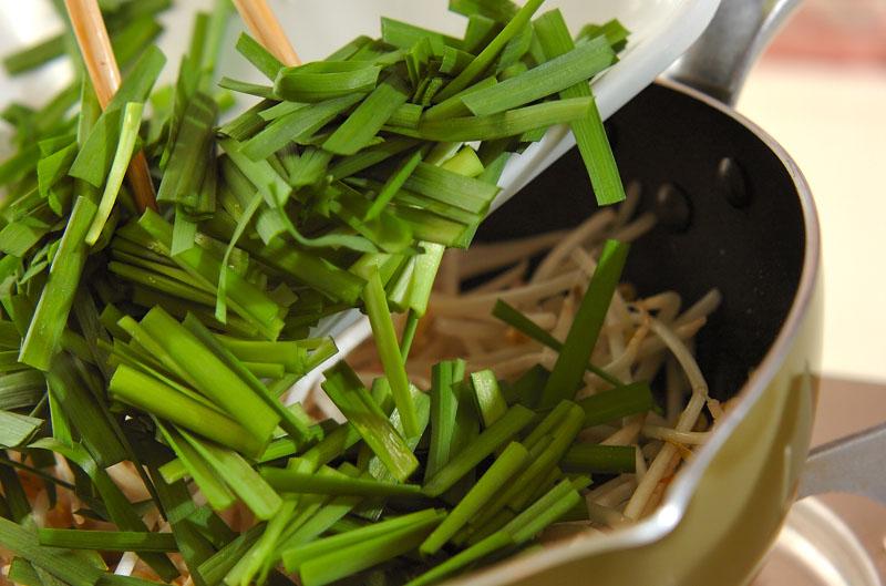 モヤシとニラの炒め浸しの作り方の手順5