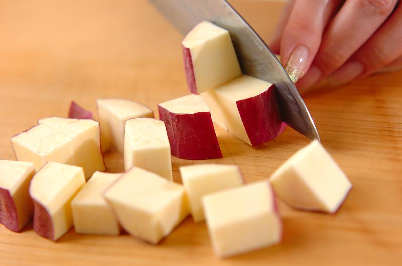 もっちりサツマイモご飯の作り方の手順1