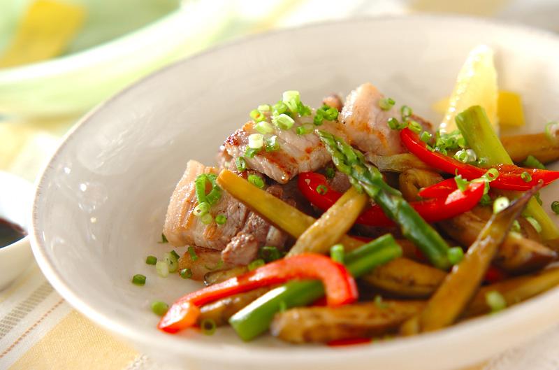 豚バラ肉のソテー