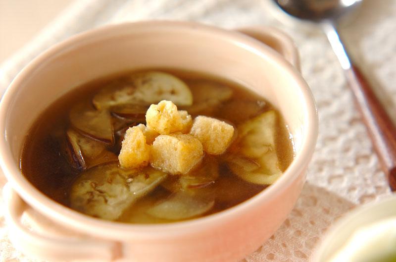 ナスのスープ