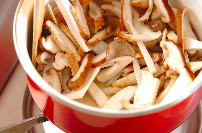 キノコのみそ汁の作り方の手順4