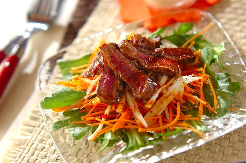 菊菜のステーキサラダ