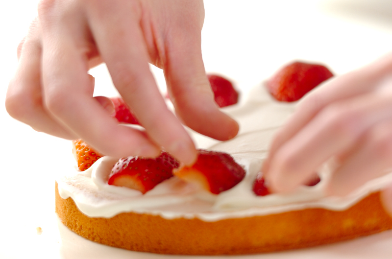イチゴのショートケーキの作り方の手順16