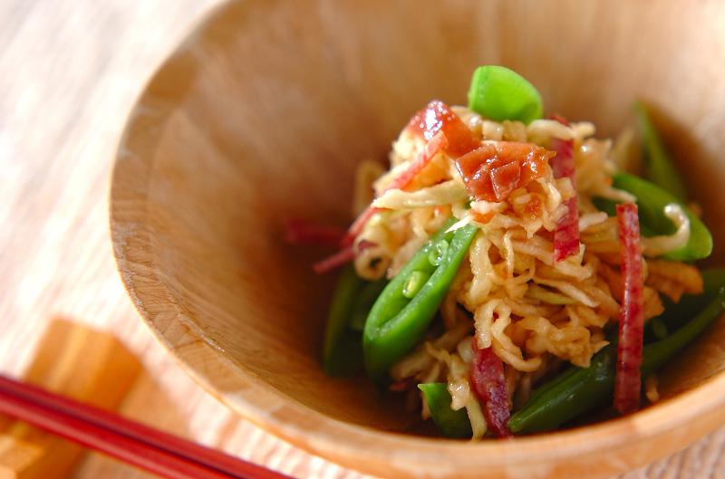 スナップエンドウと切干大根の梅風味和えの作り方の手順