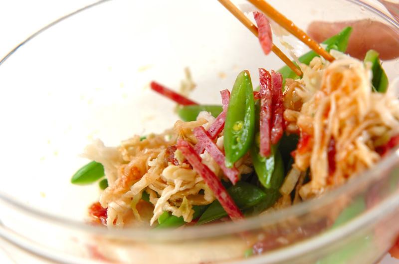 スナップエンドウと切干大根の梅風味和えの作り方の手順3