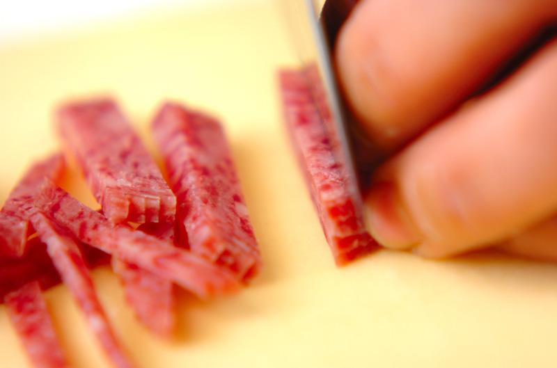 スナップエンドウと切干大根の梅風味和えの作り方の手順1