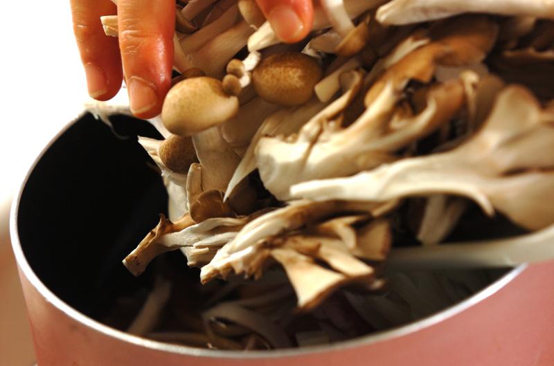 豚キノコ丼の作り方の手順2