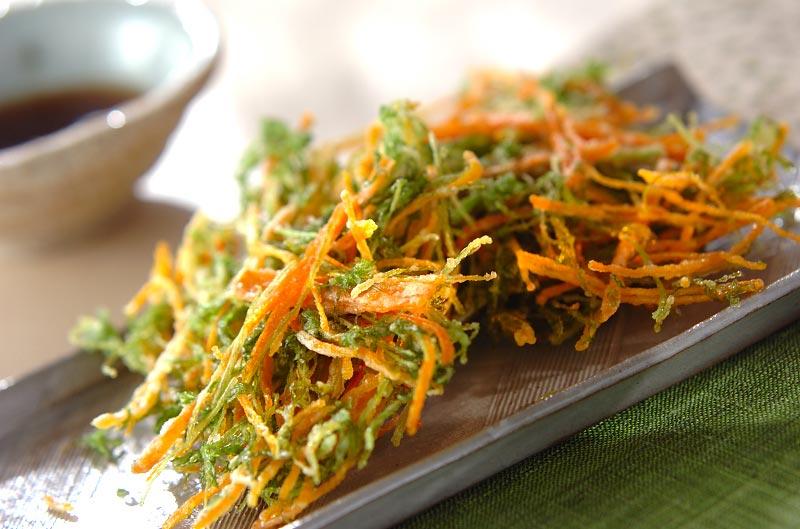 ニンジン葉のかき揚げ【E・レシピ】料理のプロが作る簡単レシピ/2009.01.05公開のレシピです。