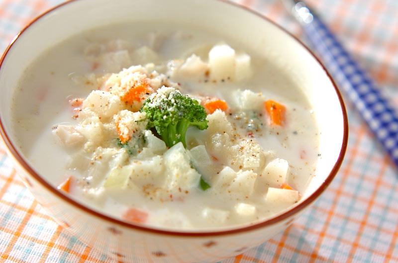 長芋のミルクスープの作り方の手順
