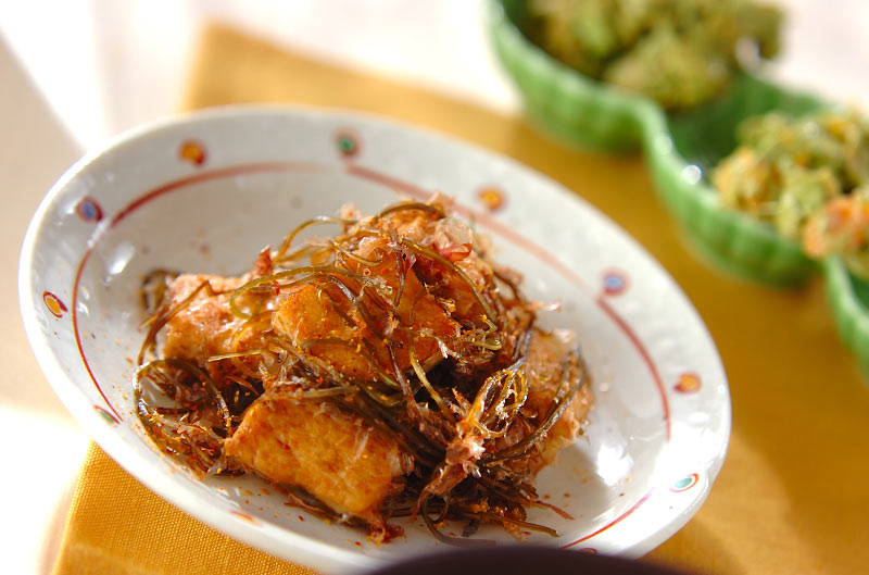豆腐と昆布の炒め物
