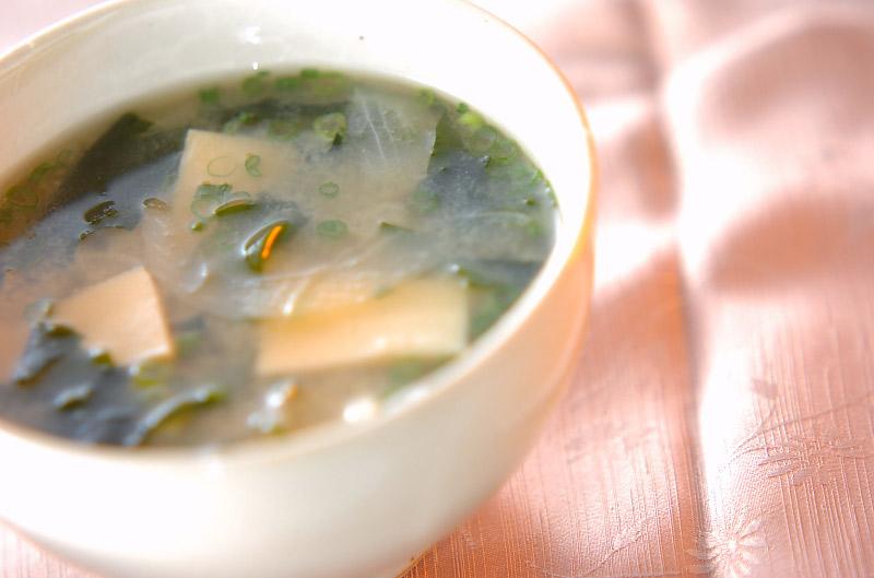 高野豆腐のみそ汁