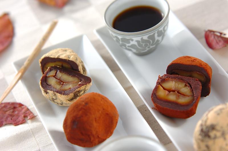 栗の和菓子の作り方の手順