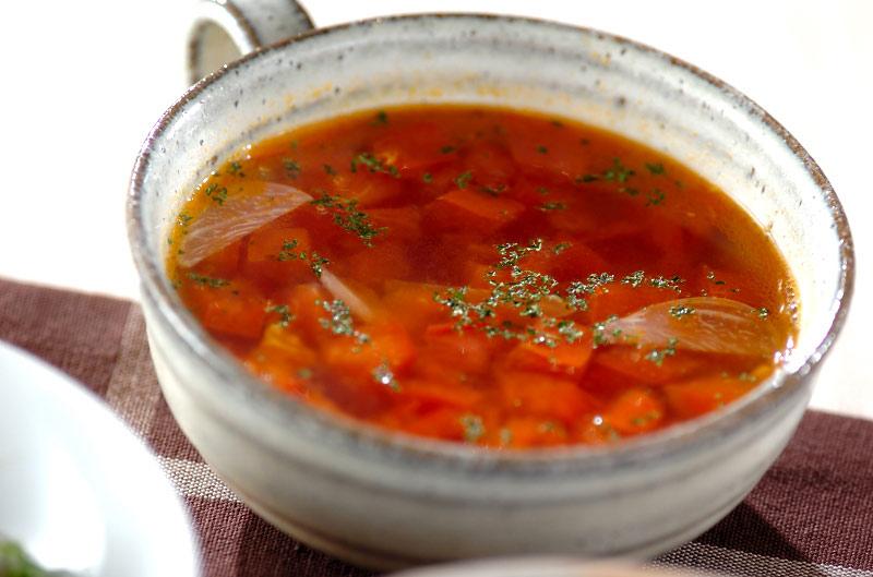 絶品!フレッシュトマトのコンソメスープの作り方の手順
