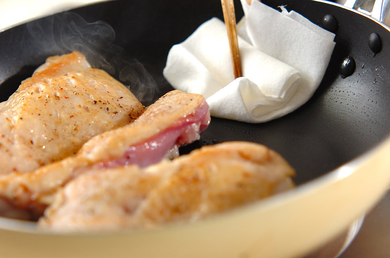 チキンソテー・ショウガソースの作り方の手順3