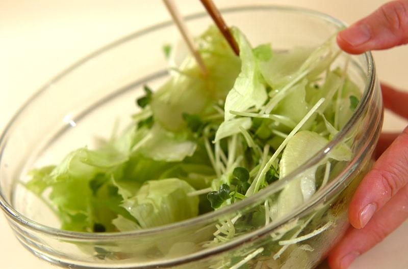 シャキシャキレタスのサラダの作り方の手順5