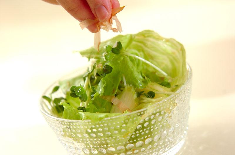 シャキシャキレタスのサラダの作り方の手順6
