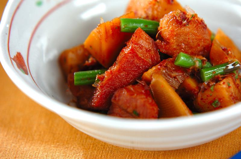 タケノコと豚肉の煮物